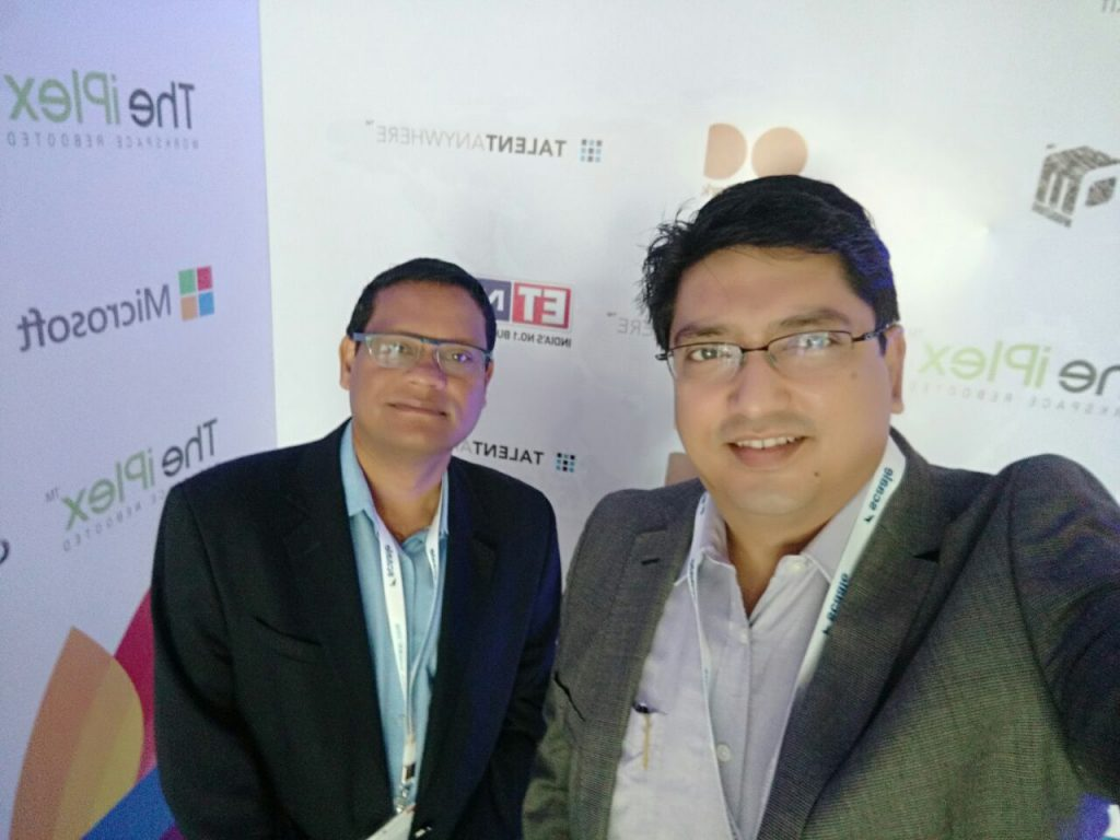 Carl Ambrose (L) and Rajib Chowdhury (R) at the Startup India Rocks